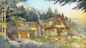 mountain home plans with walkout basement madson design house plans storybook mountain cabin architecture
