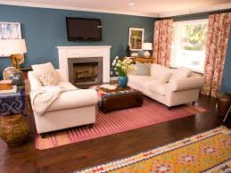 Colorful Bold BeforeandAfter Makeovers Secrets From A Stylist - Red and blue living room decor