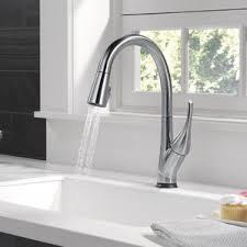 kitchen touch faucet modern kitchen faucets allmodern