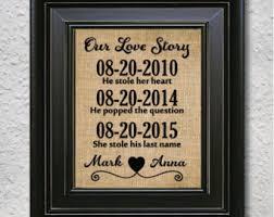 Custom Burlap Art Print Love - handmade personalized burlap print for wall by burlapartprint