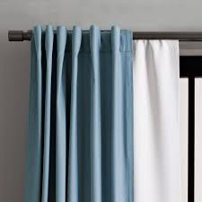 How To Attach Blackout Lining To Curtains Blackout Curtain West Elm