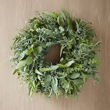 eucalyptus wreath mixed eucalyptus wreath west elm