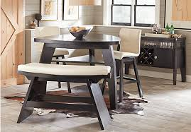 chocolate dining room table noah chocolate 4 pc bar height dining room with vanilla barstool