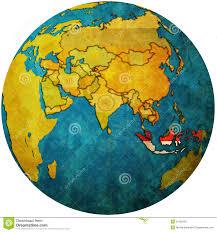 Indonesia On World Map Indonesia On Globe Map Stock Photos Image 31185203