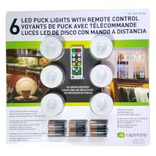 puck lights with remote capstone 6 led wireless puck lights with remote control white