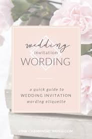 bridal invitation wording guide to wedding invitation wording etiquette pink