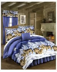 Wolf Bedding Set Midnight Wolves Bed In A Bag Walmart