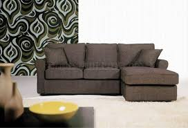 Small Sectional Sofa Bed Small Sectional Sofa In Brown Fabric