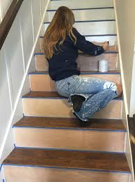 stairway makeover swapping carpet for laminate the lilypad cottage