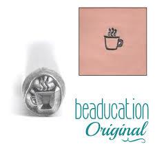 metal stamping tools coffee mug metal design stamp beaducation