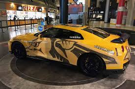 yellow nissan truck bright yellow 2017 nissan gt r donated to nashville predators