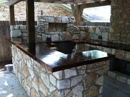beautifully done concrete countertops backyard oasis pinterest