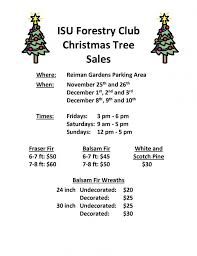 2017 forestry club tree sales resource