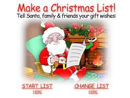 santa gift list santa claus gift registry