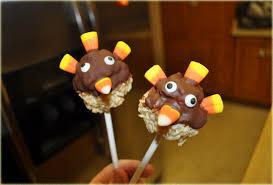 thanksgiving rice krispies turkey pop treats s fabulous finds