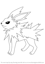 learn how to draw jolteon from pokemon pokemon step by step