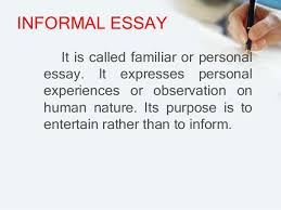 Resume Essay Example by Examples Of Informal Essay