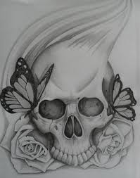 ssckull easy draw pencil and in color ssckull easy draw