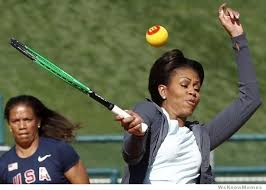 Tennis Memes - michelle obama trying to hit a tennis ball meme weknowmemes