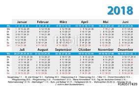 Kalender 2018 Free Kalender 2018 Visitenkartenformat Vorlage Stock Image And Royalty