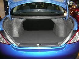 nissan versa trunk size compact car nissan versa trip news