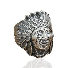 red silver rings images Red indian chief sterling silver ring that ring shop jpg