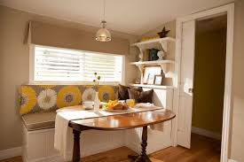 kitchen 44 breakfast nook blue with floating bench dining also