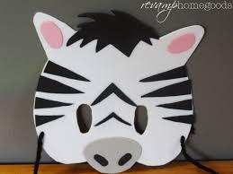 kids crafts diy foam animal masks revamp homegoods