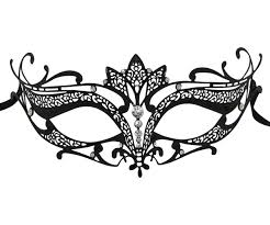 masquarade mask filigree masquerade mask with lotus flower detail