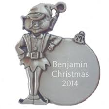 engravable and personalized pewter ornaments