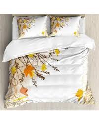 Woodland Duvet Amazing Fall Savings On Nature King Size Duvet Cover Set Autumn