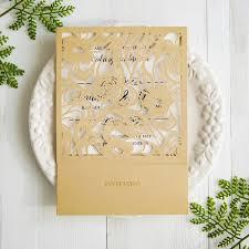 wedding invitations gold gold laser cut wedding invitation cards swws026 stylishwedd