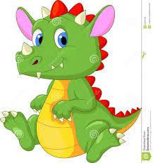 cute baby dragon cartoon stock photography image 33234192