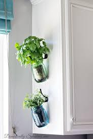 plante cuisine decoration hanging herb jars plantes et déco