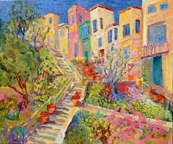 famous stairs in san francisco kathleen elsey painting steps of