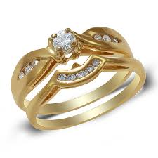 Engagement Rings And Wedding Band Sets by Diamond Engagement Ring Wedding Band Set Rin0010 395 00