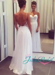 jol113 backless flowy tulle floor length wedding dress my