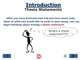 thesis sentence Imhoff Custom Services