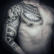 Unique Tattoo Sleeve Ideas 50 Polynesian Half Sleeve Tattoo Designs For Men Tribal Ideas