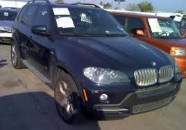 blue bmw x5 export salvage 2007 bmw x5 4 8i blue on brown