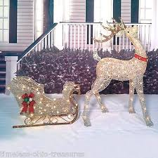 lighted reindeer outdoor lighted reindeer home design ideas and pictures