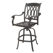 Wrought Iron Swivel Patio Chairs Exterior Wrought Iron Patio Bar Stool With Swivel Frame As Well