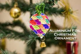 easy tin foil tree ornaments make and takes