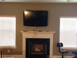 mounting tv above fireplace studs fireplace ideas
