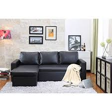 amazon sofa bed with storage amazon com georgetown bi cast leather 2 pieces sectional sofa bed