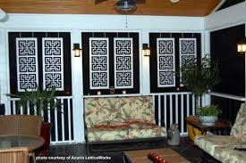 vinyl lattice panels screened patio front porches and porch