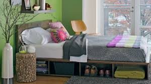 diy platform bed with storage youtube