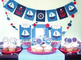 Nautical Theme Baby Shower Decorations - nautical theme baby shower decor nautical baby shower boy boat