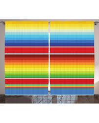 Rainbow Curtain Curtain Mexican Ethnic Pattern Print 2 Panel Window Drapes