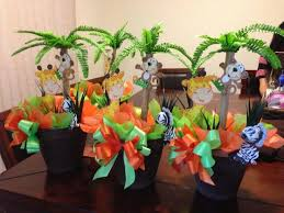 jungle baby shower ideas jungle baby shower ideas coconut tree miniature pot with animal